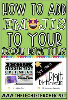 How to Add Emojis to Your Google Drive Titles and Folders Teacher Blogs, Teacher Hacks, Educational Technology, Instructional Technology, Instructional Strategies, Special Education Classroom, Art Education, Teaching Tools, Teaching Ideas