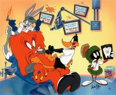 Gossmaer had cured his teeth by Daffy Duck and Bugs Bunny. if you have also dental problems, visit here to cure with fun. Looney Tunes Characters, Classic Cartoon Characters, Looney Tunes Cartoons, Old Cartoons, Classic Cartoons, Cartoon Gifs, Animated Cartoons, Cartoon Art, Bugs Bunny