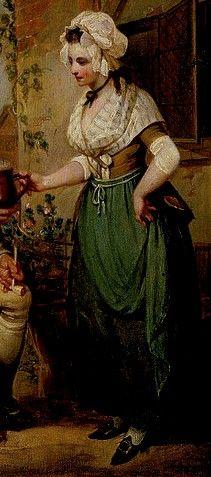Sew 18th Century: green apron. striped fichu