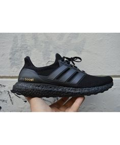 86b6ea93288d1 Adidas Ultra Boost All Black Gold trainers for cheap Sale