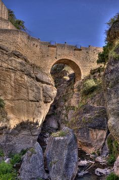 Puente Viejo (Old Bridge - Arab Bridge),  Ronda  Spain