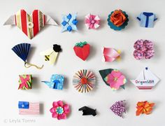 Origami pins - OrigamiSpirit: broches origami
