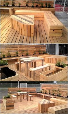 Let us start with a spacious area created using the pallets, here you can see the pallet made terrace on which there is seating arrangement as well as a long planter. The whole area is looking awesome and it is not hectic to copy this idea.