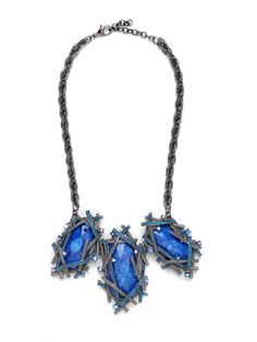 Our Azure Krypton Collar... edgy and glam!