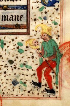 Paris, Bibl. Mazarine, ms. 0502, f. 124. Jester