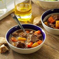 Root Stew Recipe -While inventing a new form of comfort food, I made a stew of carrots, turnips, parsnips and rutabaga. When I'm in the mood to change things up, I add potatoes or chicken. —Maria Davis, Flower Mound, Texas