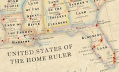 """It's easy to think of words such as California or Texas or New York as just the places on the map, but those words actually meant something, once, and those meanings offer a little glimpse into history. The above map, designed by cartographers Stephan Hormes and Silke Peust, labels states, cities, and landmarks with the literal meanings of their official names. """"Stink Onions,"""" """"Heart's Farm,"""" """"Place to Find Gold"""": Literal Names of U.S. Places, Mapped"""