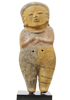 A Large Ceramic Female Whistle, Bahia Culture, Ecuador, ca. 500 BC - 6 | Sands of Time Ancient Art