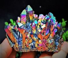 Magnificent! 237g NATURAL Rainbow FLAME AURA Quartz Titanium Crystal Healing Cluster Highly Collectible Crystal Gem Stone. Starting at $1