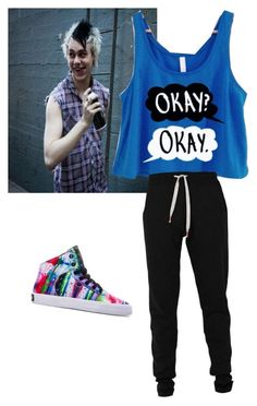 """""""video games with Michael (clifford ) #followforfollow #likeforlike #5sos"""" by ashling-taggart ❤ liked on Polyvore featuring Lija and Supra"""