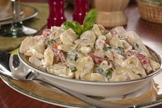 Change things up at your next potluck by serving up this deliciously creamy Chicken Tortellini Salad. It'll only take you 15 minutes, too!