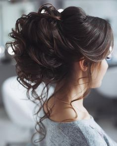Messy wedding hair updo