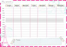 modele planning semaine gratuit - CCMR