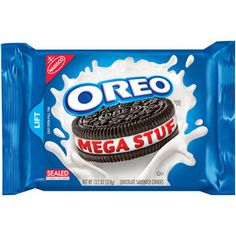 Nabisco Oreo Mega Stuf Chocolate Sandwich Cookies, 13.2 oz