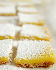 gluten free lemon bars with an almond crust #recipe. This is one lemon dessert recipe you'll keep forever.