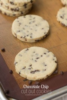 Chocolate Chip Cut Out Cookies- mini chocolate chips adds such a fun twist to the classic sugar cut out cookie.