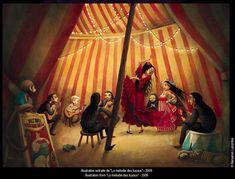 "A peek inside the marvelous, magical world of artist Benjamin Lacombe. ""La mélodie des Tuyaux."""