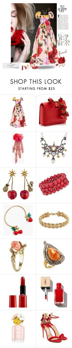 """""""Let's face it"""" by deborah-518 ❤ liked on Polyvore featuring Dolce&Gabbana, J.Crew, Barbara Bixby, Gucci, Ross-Simons, Vintage, Artisan, Giorgio Armani, Marc Jacobs and Salvatore Ferragamo"""