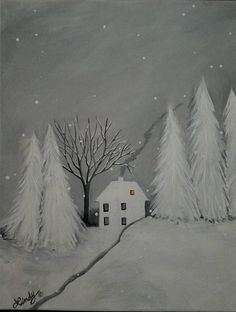Check out this item in my Etsy shop https://www.etsy.com/listing/575127425/snowy-night-11-x-14-acrylic-canvas