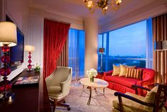 The St. Regis Singapore - Living Room of Caroline Astor Suites