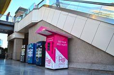 Outdoor Rollasole shoe vending machine!