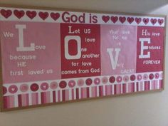 Church Bulletin Board – God is Love day decorations for church Valentines Day Bulletin Board Ideas That will Make Kids Jump Out In Joy Religious Bulletin Boards, Bible Bulletin Boards, February Bulletin Boards, Valentines Day Bulletin Board, Christian Bulletin Boards, Winter Bulletin Boards, Preschool Bulletin Boards, Bulletin Board Display, Bullentin Boards