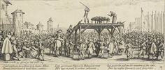 """""""The Wheel,"""" by Jacques Callot, from""""The Miseries and Misfortunes of War,"""" 1633. It depicts a person being broken on the wheel for his religious beliefs, showing some of the savagery that accompanied the religious wars after the Reformation in Europe."""