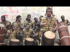 ▶ djembe precaution (Unity Drum, in Cape Coast, Ghana) - wow who wouldn't want to start their day that way??