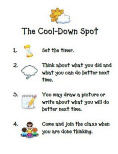 cool down spot sign and choice spinner