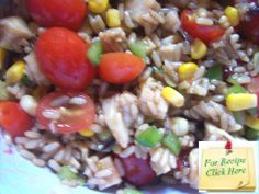 The combination of the wild rice, veggies and chicken with the Saigon dressing gives a slight hint of the Orient to this Wild Rice Chicken Salad. Rice Salad Recipes, Healthy Recipes, Wild Rice, Side Dishes Easy, Chicken Salad, Salads, Veggies, Dressing, Meals
