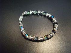 Bracelet en argent sterling avec cristaux par BijouxdeBrigitte, $79.00