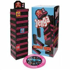Leave it to geeks to not be able to leave a perfectly fun, simple game well enough alone. The Donkey Kong Jenga: Collector's Edition game is a challenging Donkey Kong, The Donkey, Jenga Game, Mario, Geek Toys, Retro Gamer, Novelty Items, Fun Games, Board Games