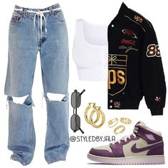 Grunge Outfits, Cute Casual Outfits, Edgy Outfits, Retro Outfits, Simple Outfits, Outfits With Jordans, Teenage Girl Outfits, Teen Fashion Outfits, Look Fashion