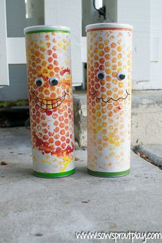 Upcycle a Pringles can and turn it into a musical instrument. Get the tutorial at Sow Sprout Play.