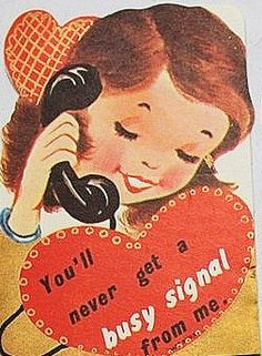 1950's Valentine. what's that weird black thing in her hand?