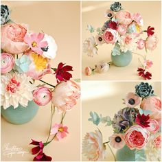 Bust of colors and free spirit for new paper flowers arrangements. | Christine…