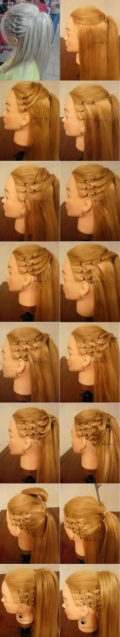 Highlight Ponytail Hairstyle