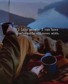 Positive Quotes : I like people I can have comfortable silences with. - Hall Of Quotes Daily Quotes, Best Quotes, Love Quotes, Inspirational Quotes, Peace Quotes, Quotes To Live By, Happiness Quotes, Motivation, Like Me