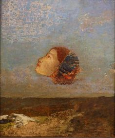 Odilon Redon, Hommage a Goya (Tribute to Goya), 1885.