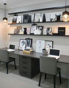48 Wonderful Small Office Design Ideas – Modern Home Office Design Small Office Design, Office Interior Design, Office Interiors, Interior Design Inspiration, Office Designs, Creative Inspiration, Guest Room Office, Home Office Space, Home Office Decor