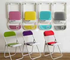 Pantone Chairs! Be still my beating heart.