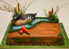 BIRTHDAY 065 -- CAKE FOR DUCK HUNTER'S BIRTHDAY