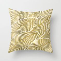 Tropical Gold Throw Pillow by Cat Coquillette