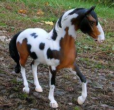 OOAK CM Breyer Classic Warmblood Black Bay Pinto model horse custom