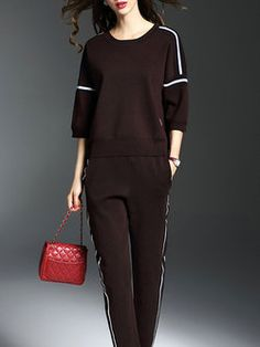 Knitted Binding Two Piece Casual Half Sleeve Jumpsuit