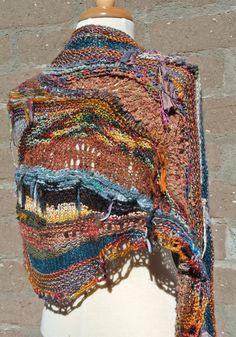 Earth and Sky Intarsia/short row wrap a la Jane Thornley