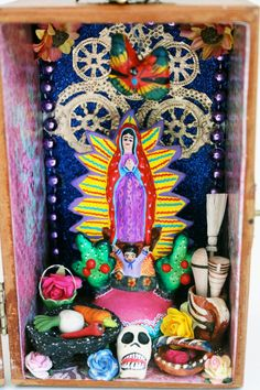 Guadalupe VIrgin Mary Mexican folk art shrine / by TheVirginRose