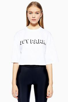 c4c4698aed780 Shadow Logo Crop T-Shirt Ivy Park - T-Shirts - Clothing