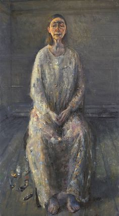 Painter with Model (Self Portrait) by Celia Paul, 2012