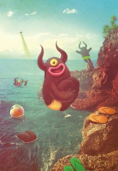#Bakelanasland #Monsters by Juan Carlos Paz aka #Bakea. Madrid, Spain.